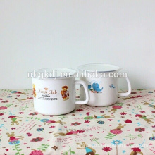 stainless steel enamel milk mug with pe lid